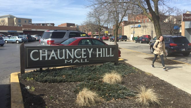 Chauncey Hill Mall, at the corner of State Street and Chauncey Avenue, is a prime spot as a gateway to Purdue University.