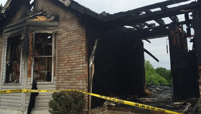 The home was completely destroyed by the fire.