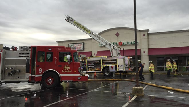 Crews responded to a fire the morning of Dec. 26 at the Children's Orchard clothing store on Republic Road.