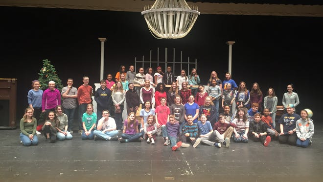 """After many rehearsals and much preparation, Lakeside Middle School students will present their annual spring musical, """"Annie Jr."""" at 7 p.m. March 24 and 25 at the school at 2 Sharp St., Millville. With equal measures of pluck and positivity, little orphan Annie charms everyone's hearts despite a next-to-nothing start in 1930s New York City. Annie is determined to find the parents who abandoned her years ago on the doorstep of an orphanage run by the cruel Miss Hannigan. Annie eventually foils Miss Hannigan's evil machinations, finding a new home and family in billionaire Oliver Warbucks, his personal secretary, Grace Farrell, and a lovable mutt named Sandy. The main characters are Annie, played by Stella Sheppard, Daddy Warbucks, played by Joshua DeMarco, and Miss Hannigan, played by Abigail Sorantino. They are joined by 56 other cast and crew members to create a spectacular middle school musical. Tickets, available at the door, are $5. For information, call (856) 293-2420."""