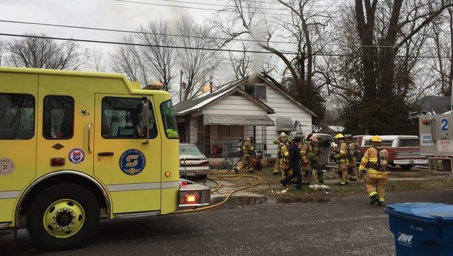 Crews responded to a house fire Thursday in the 800 block of North Lexington Avenue.