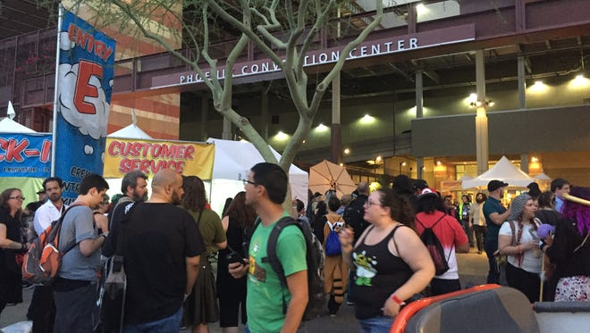 Attendees at the Phoenix Comic Fest were told to leave the Phoenix Convention Center amid an emergency evacuation on May 26, 2018.