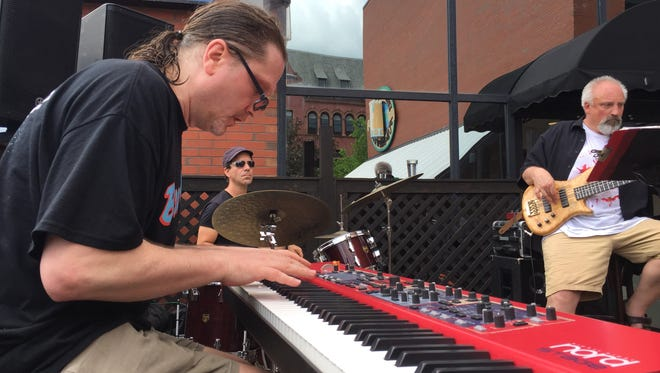 The Eric Hoh Trio performs Friday, June 1, 2018 at the Vermont Pub & Brewery as the Burlington Discover Jazz Festival begins its 35th year.