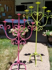 Spray paint the candle holder in your choice of color.  This step is completely optional.