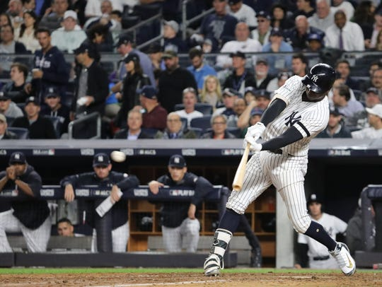 Didi Gregorius connects for a seventh inning double,