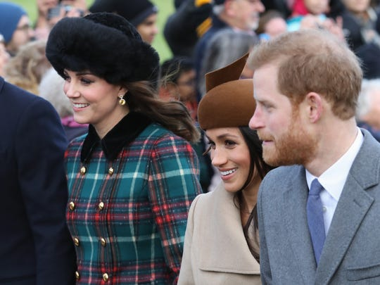 KING'S LYNN, ENGLAND - DECEMBER 25:  (L-R) Catherine,