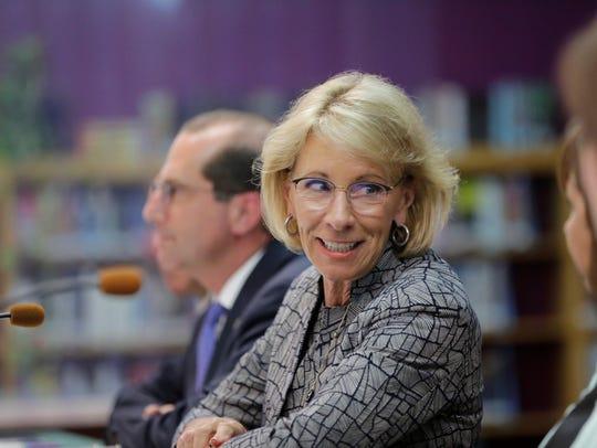 U.S. Secretary of Education Betsy DeVos thanks Wisconsin