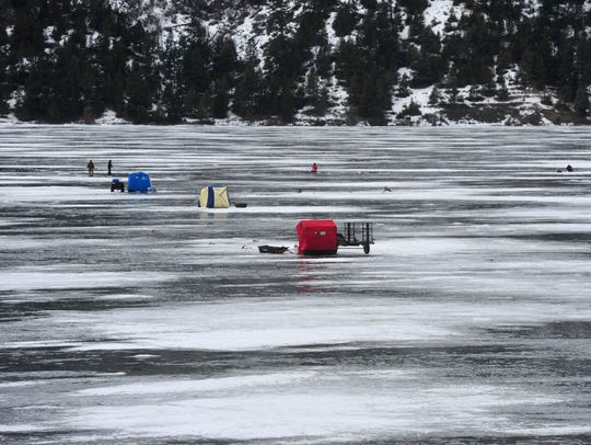 Winter use has increased at Holter Lake and much of