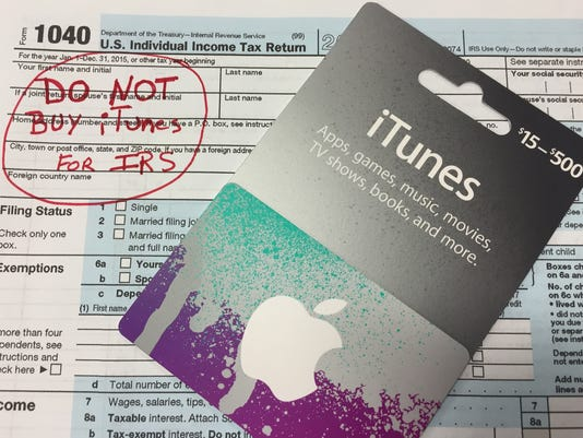 Never buy an iTunes card to pay your taxes.