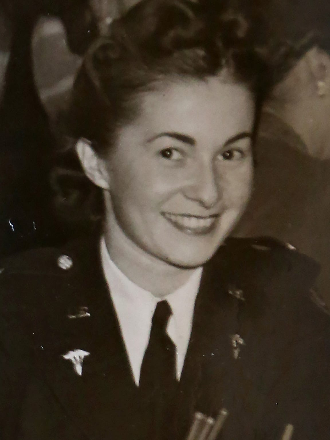 "Marian Malik, now Marian ""Nan"" Somes, during her service"