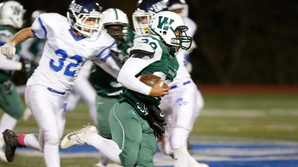 Dobbs Ferry defeats Woodlands 21-14 in the Section 1 Class C championship football game at Mahopac High School on Friday, November 4, 2016.