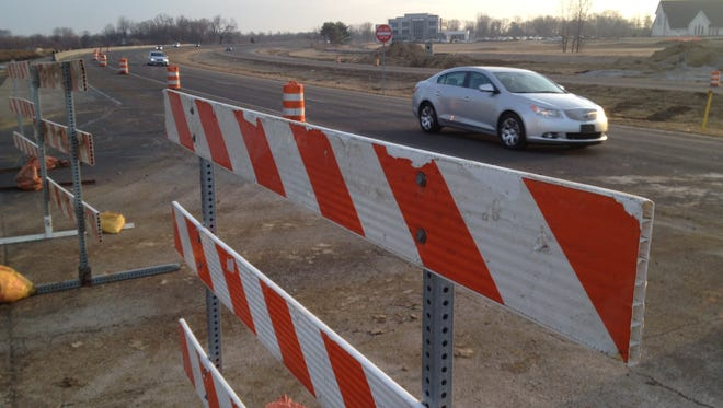 The view at the construction zone where West Main Street crosses U.S. 31 in Carmel.