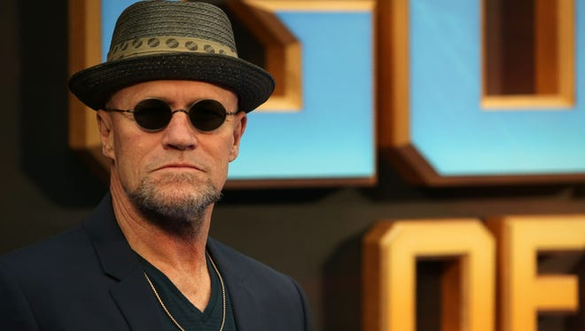 Michael Rooker poses for a photograph upon arrival at the European Gala screening of 'Guardians of the Galaxy Vol. 2' in London on April 24, 2017.