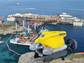 The radio-operated VideoRay vehicle helped refloat the Costa Concordia.