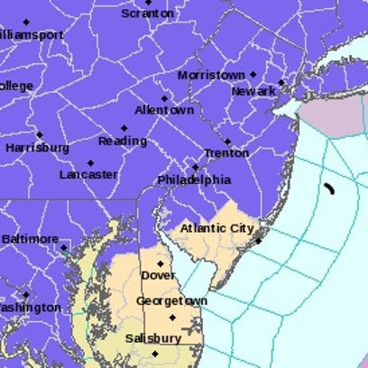 The National Weather Service issued a winter weather