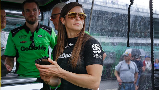 Ed Carpenter Racing IndyCar driver Danica Patrick (13) before practice for the Indianapolis 500 at the Indianapolis Motor Speedway on Sunday, May 21, 2018.