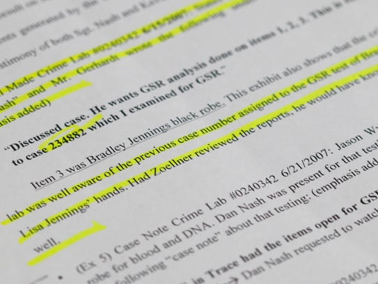 Attorney Bob Ramsey contends in legal filings that contrary to what Det. Dan Nash has said in the past, a phone record Ramsey obtained from the Missouri State Highway Patrol indicates Nash specifically asked a crime-lab employee to perform a gunshot-residue test on a bathrobe.