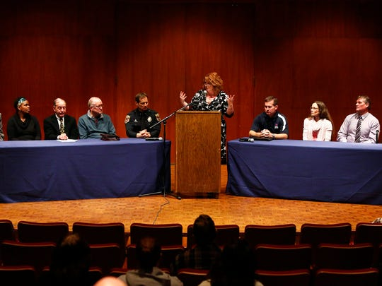 A panel discussion on ways to combat drunk driving