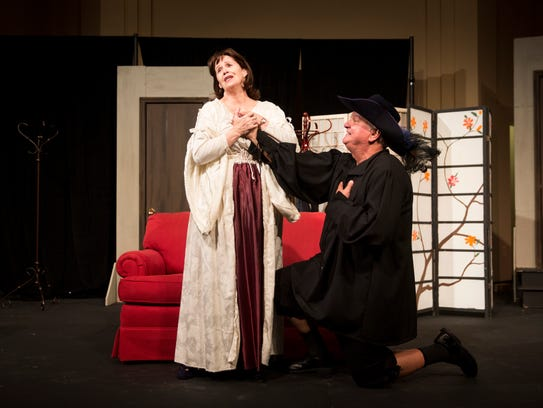 Anne Dodd, left, and Patrick Day, play Charlotte and