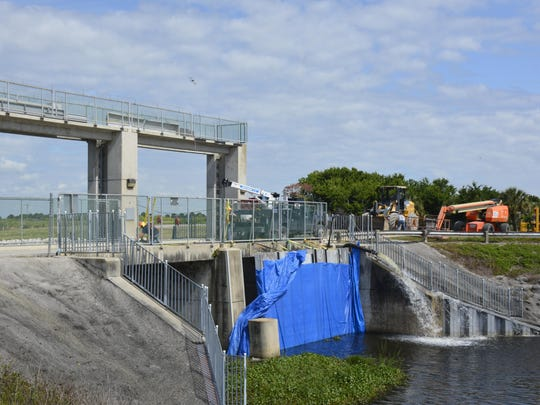 To prevent flooding, the S-96 structure at the C-54 canal, along Brevard's southern border, released billions of gallons of farm runoff toward the lagoon in past hurricanes. Because of large-scale wetlands restorations, water managers say such releases won't likely be necessary in future hurricanes.