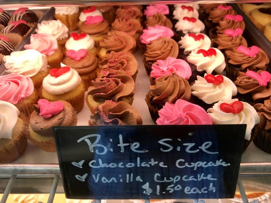 Bite-size cupcakes are among the chocolate treats at