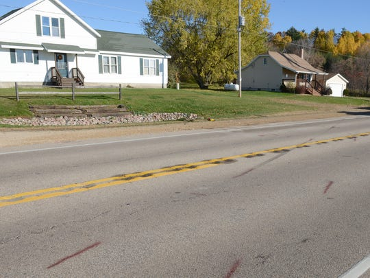 The scene of the crash that killed three teens, on Wisconsin 22 north of Friendship Road in the town of Belle Plaine last week.