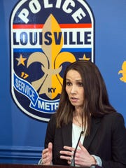 Emily McKinley of the LMPD provides details on a late night shooting at the Tim Faulkner Gallery that left one person dead and five others injured. March 19, 2017