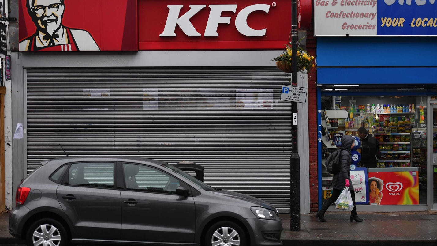 Feathers fly as chicken shortage shuts KFCs in UK