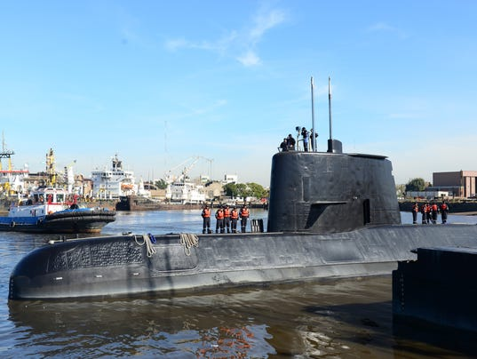 Argentine sub may have sent signals 7 times