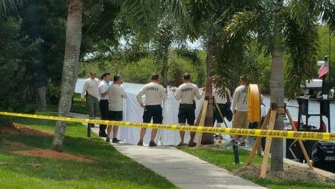 Lee County sheriff's investigators pulled a body from water at Shell Point Retirement Community in Fort Myers. Photo provided by our partners at WINK News.