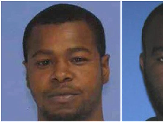 This combination of undated photos released by the Mississippi Bureau of Investigation shows Marvin Banks, left, and his brother Curtis Banks. The two were charged in the fatal shooting of two Hattiesburg, Miss., police officers in May. Marvin Banks was found unresponsive in his jail cell Friday and later pronounced dead.