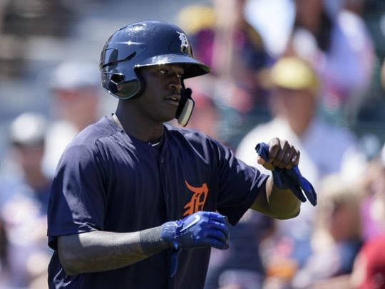 Outfielder Daz Cameron is on his way to Comerica Park, but Tigers fans will have to wait for now.