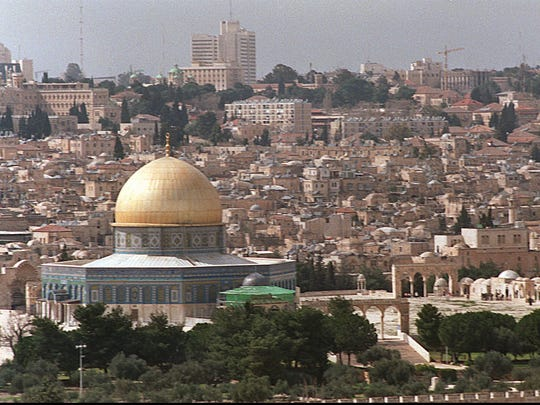 Jerusalem skyline. 1988.