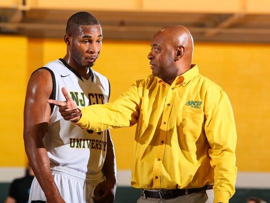 Sam Toney (left) with NJCU head coach Marc Brown.
