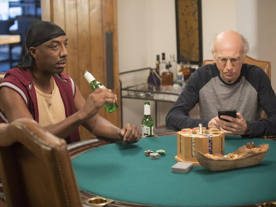 J.B. Smoove and Larry David in a scene from HBO's 'Curb