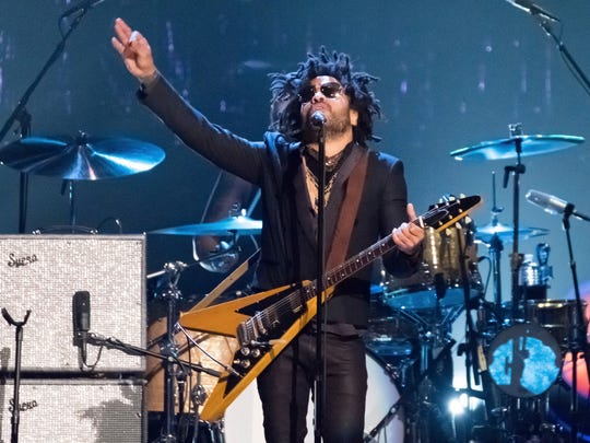 Lenny Kravitz performs at the 2017 Rock and Roll Hall