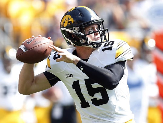 NCAA Football: Iowa at Pittsburgh