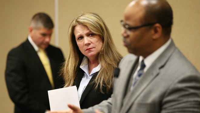 Rochester Superintendent Barbara Deane-Williams and School Board President Van White.