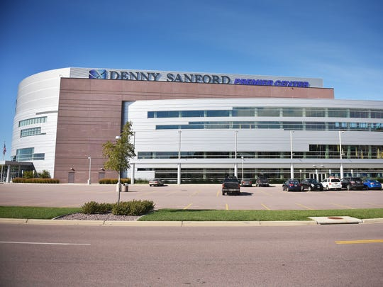 Denny Sanford Premier Center building Tuesday, Oct. 10, in Sioux Falls.
