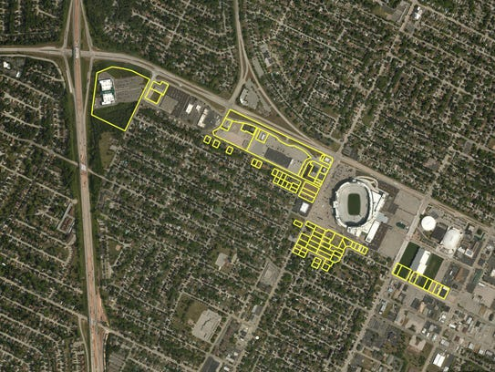 This map shows land owned by the Green Bay Packers