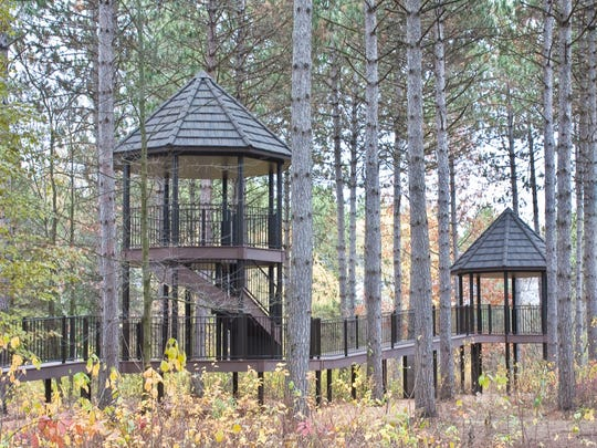 The treehouse at Robert W. Monk Gardens in Wausau is ready for families to visit during Autumn Fest on Saturday, Sept. 27.