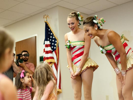 Local girls had a chance to meet Rockettes, Megan Levinson and Christine Sienicki, at the Parsippanny Library.