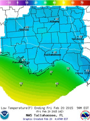 An outbreak of Arctic air is bringing unusually cold weather to Florida.