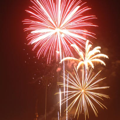 Fireworks at a past Fourth of July celebration at the