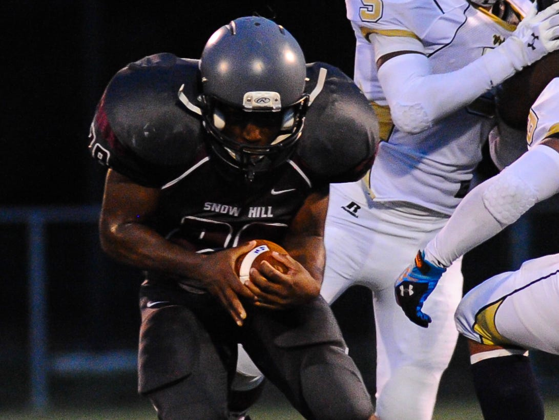 Snow Hill fullback Ian Smith was chosen to the First-Team Offense for the Bayside Conference Football Awards.