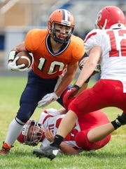 Alex Parsons helps North Montgomery keep opposing defenses from concentrating on the passing game.