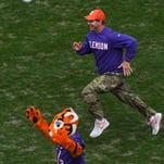 As a player for Alabama, Dabo Swinney had career day in a game against South Carolina