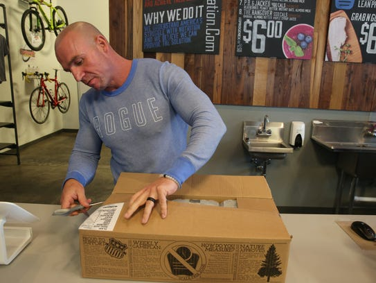 Owner Tim Dougherty opens a boxed week-long meal plan