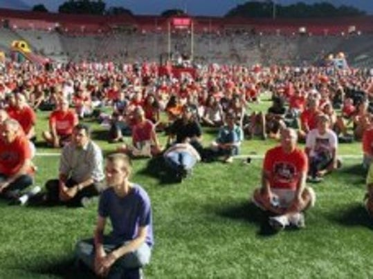 Rutgers fans showed up in droves July 1 for the Big Ten membership celebration. On Saturday, they can attend football practice. (Mark Sullivan/MyCentralJersey.com)