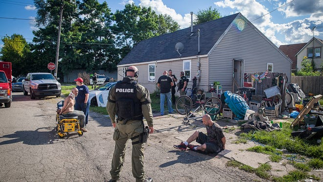 Authorities conducted a major meth raid in the 1100 block of West Second Street in August 2015.